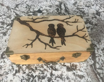 Love Birds Wood Box
