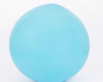Latex blue giant - 90 cm - decoration ball birthday wedding engagement chic
