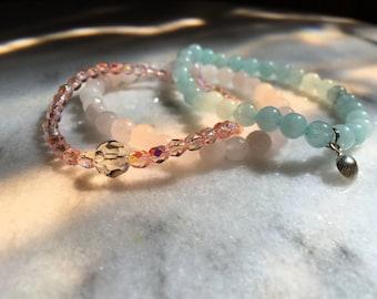 Delicate Beach Bracelet Stack