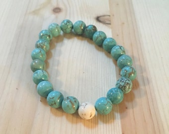 Lumina: Beaded Bracelet with Turquoise Colored Beads
