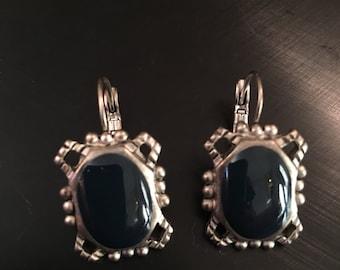 Dark stone earrings