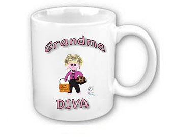 Grandma mugs - AVAILABLE in at least  25 Different LANGUAGES
