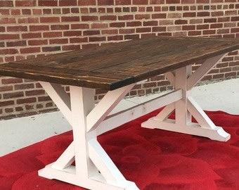 X Farmhouse Table