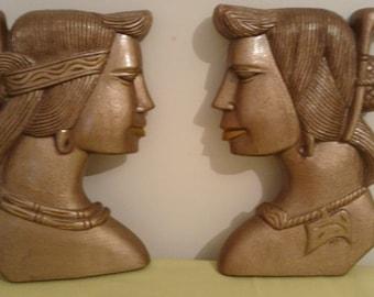Art Deco wooden ladies