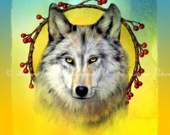 "Winter Wolf 5.5"" x 8.5"" Archival Print"