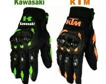 Summer motorcycle gloves kawasaki or ktm logo