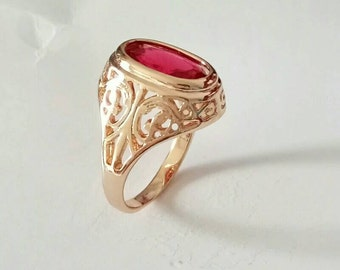 Ring with a Ruby s. free shipping