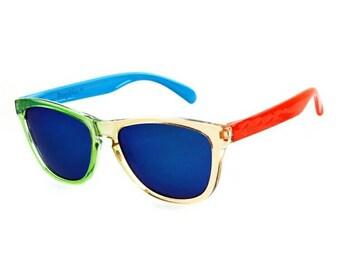 Mirror polarized lens sunglasses