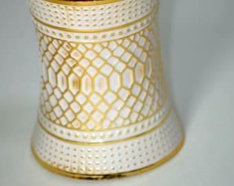 African HUGE cuff bracelet/ Gold & White