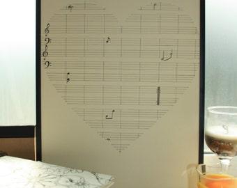 Sheet Music Fingerprint Guest Book