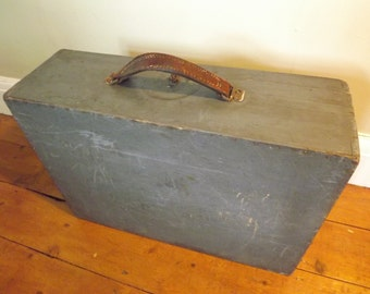 Storage box suit case wood vintage French