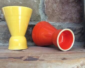 HLC Homer Laughlin Harlequin Fiesta double egg cups