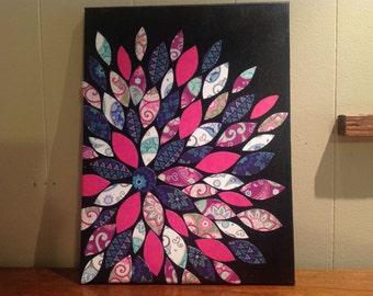 Paper Flower Canvas Art