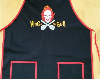 BBQ apron 'King of the grill', barbecue, BBQ, apron