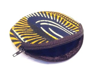 Yellow Printed Coin Purse