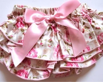 Floral Ruffe Baby Girl Bottoms
