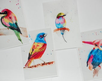 Bird cards (set of 4) with envelopes