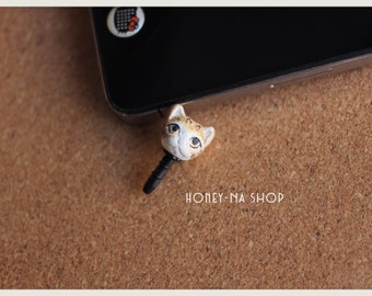 Cat Plug handmade by Me!, polymer clay, hand sculpted