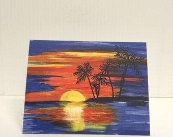 Summer Sunset Notecards