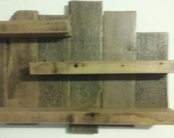 Reclaimed barn board shelf