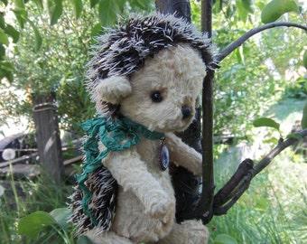 Teddy.Hedgehog.The grey hedgehog.Teddy toy.Friends Teddy.Teddy hedgehog.Hedgehog Teddy. A gift to a friend.Plush hedgehog.Handmade.