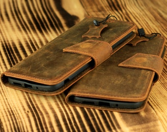 LG G5 Wallet Case with Magnet Lock - Handmade Genuine Leather