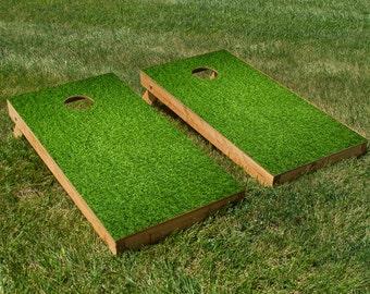 The Grass is Greener Cornhole Board Set