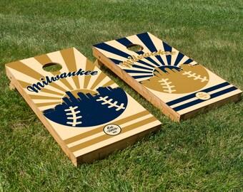Milwaukee Brewers Cornhole Board Set