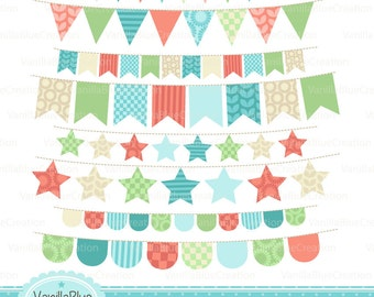 Clipart banners, clipart flags, decoration Festivities, clipart Festivities, decoration flags