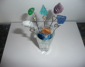 Sea Glass appetizer or martini picks