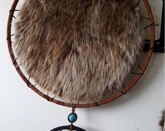 14 Inch Diameter Beaver Fur Dream Catcher