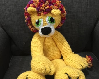Crocheted Stuffed Animal (Lion)