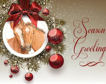Season's Greetings Horse Holiday Cards pack of 10