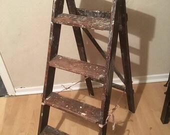 Ornamental Vintage Ladder Shelves/Book shelves