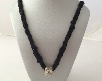 French Knitted Ladder Yarn Necklace