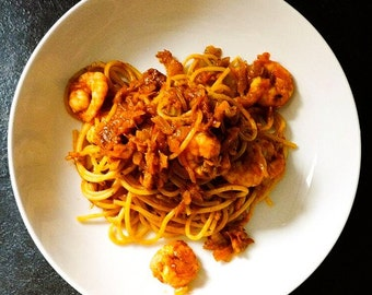 My Spice Infused Prawn Spaghetti Spice Blend, Seafood Spaghetti, Pasta Dish, Quick and Easy, Foodie Gift, No Additives, Vegan Friendly,