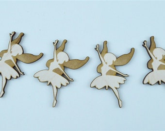 Lot of Fairy Silhouette, Wooden, Plywood, Cutout  - 1118
