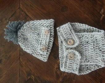 Baby Beanie and Diaper Cover