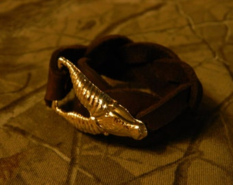 Goat head mystery braid bracelet