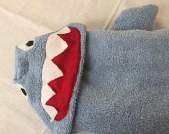 Cartoon Sharky Animal Hooded Bath Towel