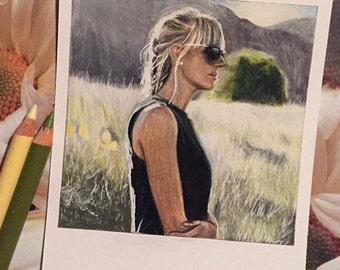 Jenna - Print of Polaroid Drawing