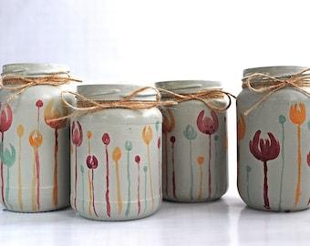 Jar - Twilight Tulips Set - by Jars in Bloom