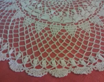 Crochet white hand made