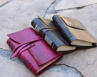 Handmade Leather Journals.