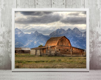Grand Teton Print, Instant Download, Wall Art, Travel, Prints, Home Decor, Wall Art, Wyoming, Ranch Wall Art, Travel Prints, Wanderlust