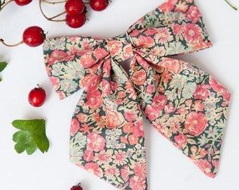 Liberty of London Bow - Chive Print Hair Accessory