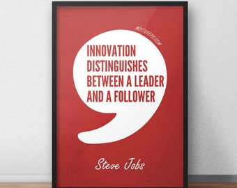 Innovate & Lead - Steve Jobs quote