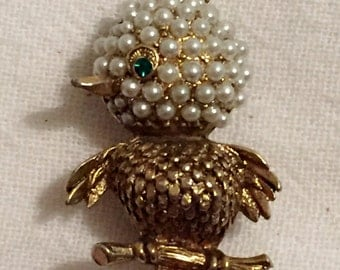 Vintage Bird Brooch Pin