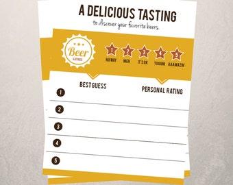 Beer Tasting Cards