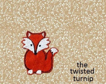4x4 Cute Woodland Realistic Fox Feltie Felt Felty Embroidery Design Instant Digital Download Woodland Animals Forest by The Twisted Turnip